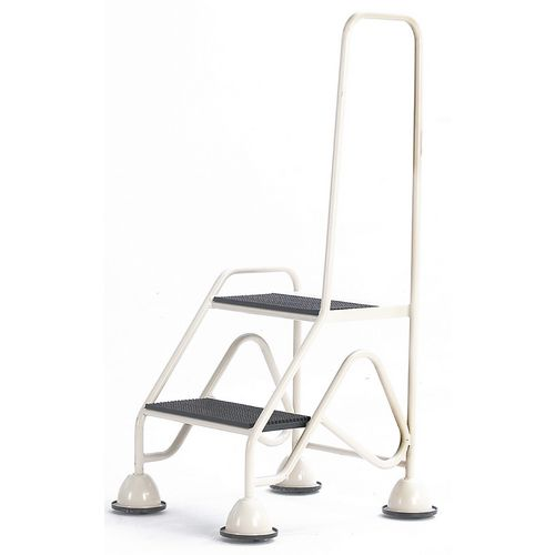 Easy Glide Mobile 2 Step Looped Handrail Light Grey 640x1210x560