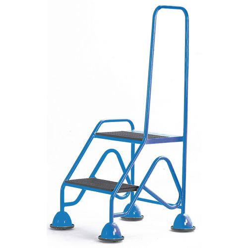 Easy Glide Mobile 2 Step Looped Handrail Blue 640x1210x560