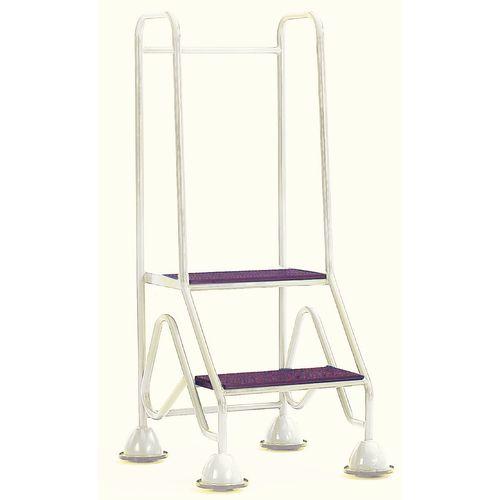 Easy Glide Mobile 2 Step Full Handrail Light Grey 640x1210x560