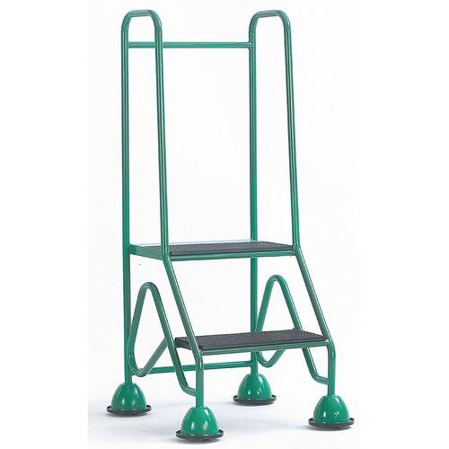 Easy Glide Mobile 2 Step Full Handrail Green 640x1210x560