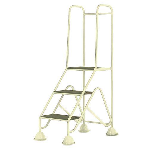 Easy Glide Mobile 3 Step Full Handrail Light Grey 840x1450x560