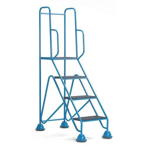 Easy Glide Mobile 4 Step Full Handrail Light Grey 1700x560x1040