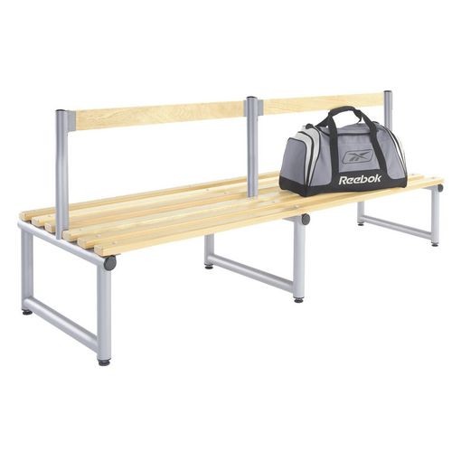 1000mm Single Double Sided Low Seat With Silver Frame And Ash Slats