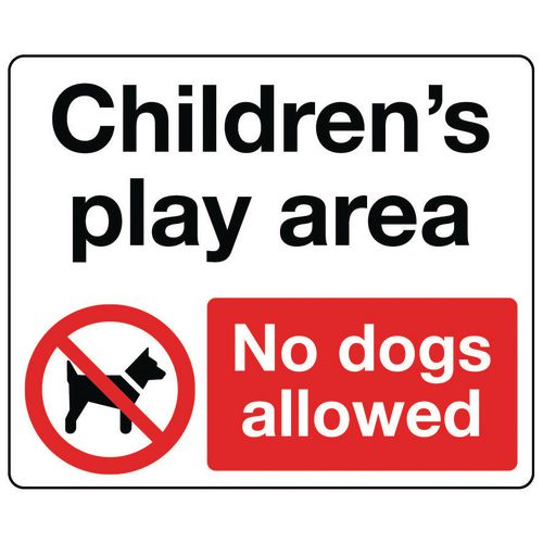 Sign Childrens Play Area 600x450 Vinyl