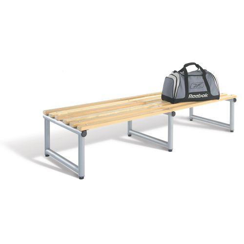 1000mm Double Sided Bench Seats With Silver Frame And Ash Slats