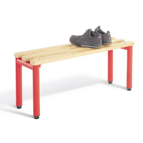 1000mm Double Sided Bench Seats With Red Frame And Ash Slats