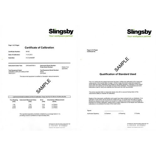 Calibration Certificate For Moisture Meter