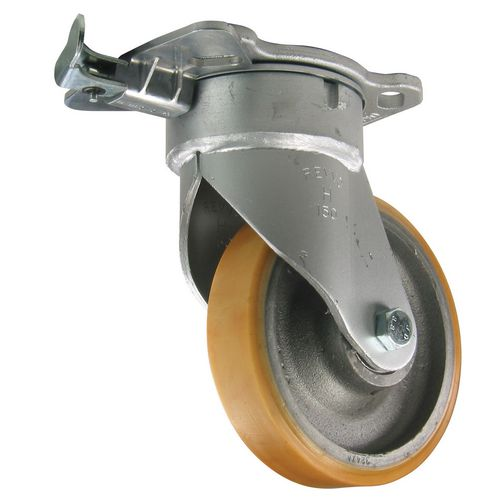 150mm Fabricated Steel Castor Swivel With 4-Station Directional Lock -