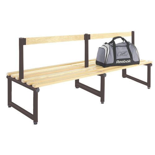 1000mm Single Double Sided Low Seat With Black Frame And Ash Slats
