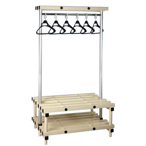 Cloakroom Unit With Hangers Cream 10 Hangers Length 1000mm