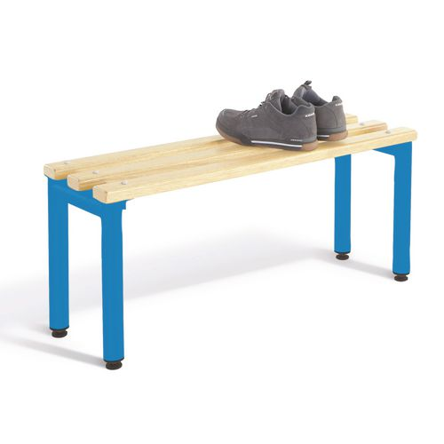1000mm Bench Seats With Blue Frame And Ash Slats