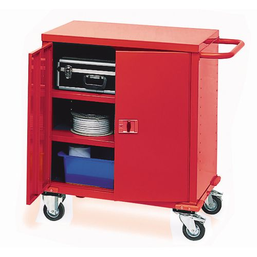 Cabinet Mobile Storage Red 900x900x450mm