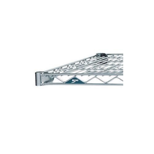 Metro Wall Mounted Chrome Wire Shelf 1219mm Wide 356mm Deep