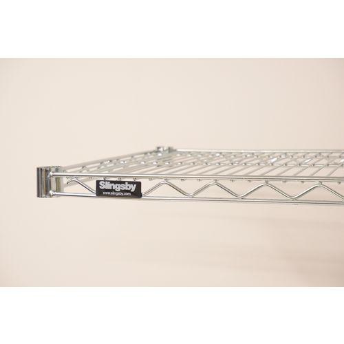 Metro Wall Mounted Chrome Wire Shelf 1829mm Wide 356mm Deep