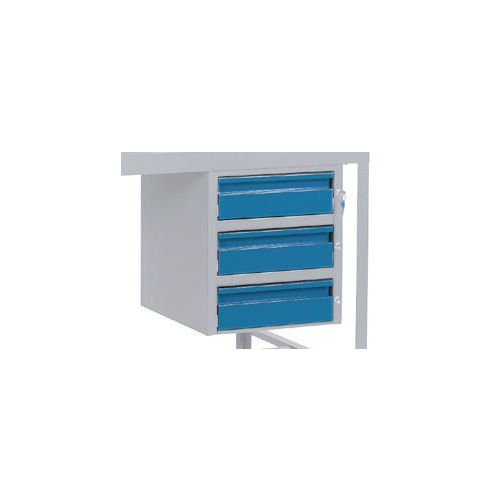 Triple Drawer Blue