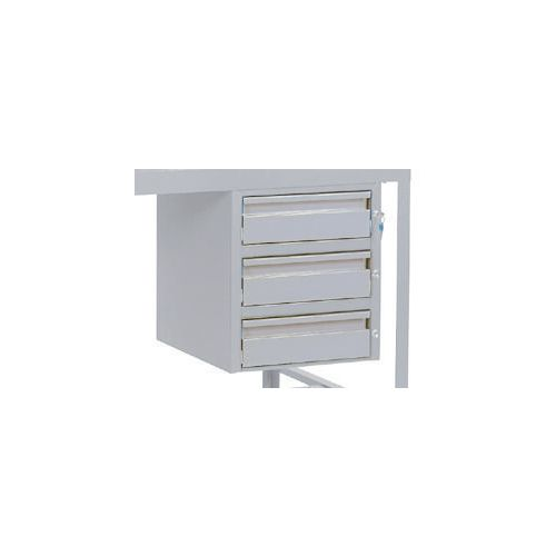 Triple Drawer Light Grey