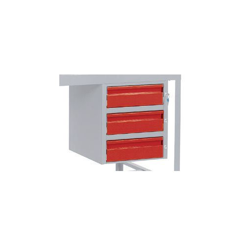 Triple Drawer Red