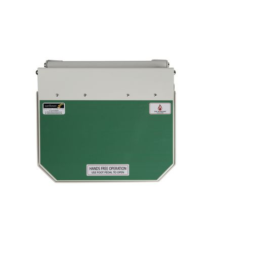 20L Flame Retadant Waste Bin With Green Lid User Defined