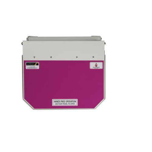 20L Flame Retadant Waste Bin With Purple Lid Cytotoxic &Cytostatic Waste