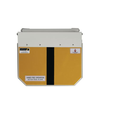 50L Flame Retadant Waste Bin With Yellow And Black Lid Offensive &Hygiene Waste