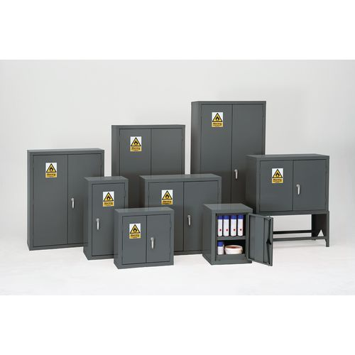 Grey Flammable Cabinet 1220X915X459 2 Shelves
