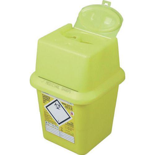 Clinical Waste Bin Sharps Disposal Box 4 Litres H250 x W190mm