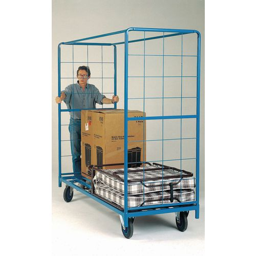 Wide Trolley 2000x800 Platform Truck With Mesh Ends
