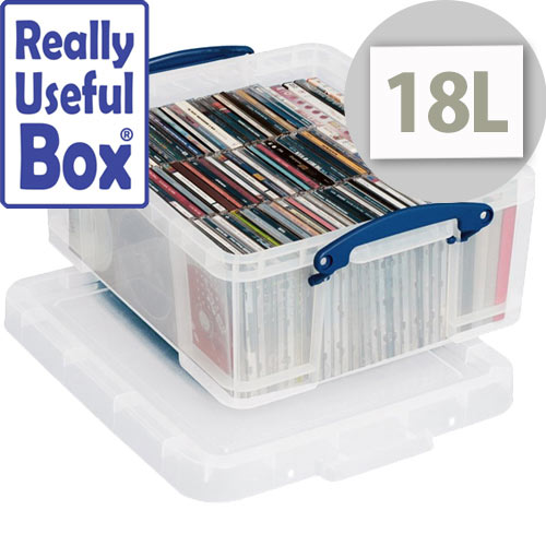 Box Really Useful 18Ltr Capacity Clear Storage Box