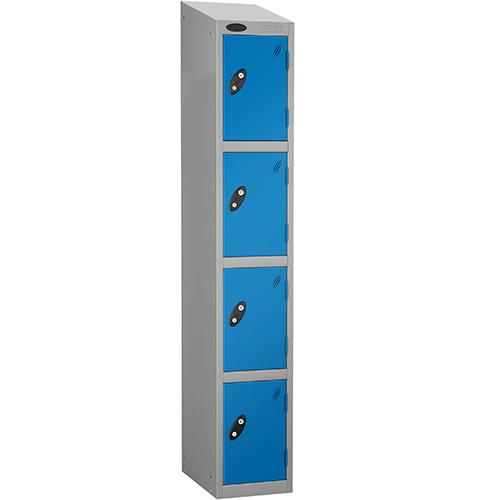 Economy Range Locker With Sloping Top 4 Door Depth:460mm Silver &Blue
