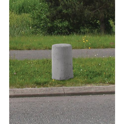 Verge Marker Bollard  Plain Smooth Grey Finish