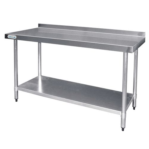 Stainless Steel Top Preparation Table With 60mm Upstand HxWxL mm: 900x600x1500