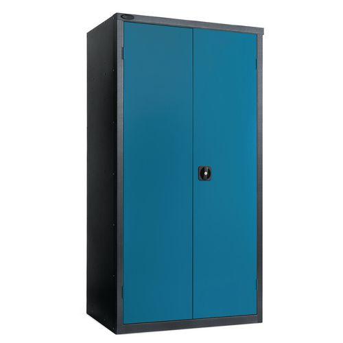 Black Carcass Cupboard Standard Blue With 3 Shelves
