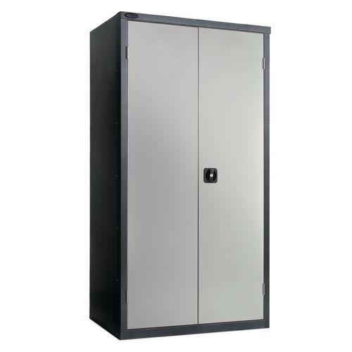 Black Carcass Cupboard Standard Grey With 3 Shelves
