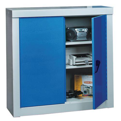 Cupboard Security1200X1200X450 2 Shelf Grey C/W 2 Blue Doors