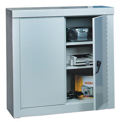 Cupboard Security1200X1200X450 2 Shelves All Grey 2 Doors