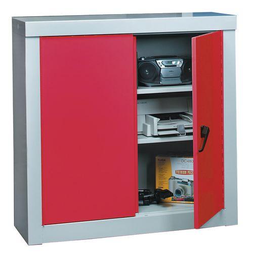 Cupboard Security1200X1200X450 2 Shelf Grey C/W 2 Red Doors