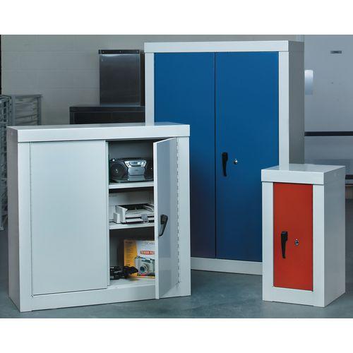 Cupboard Security1800X900X450 3 Shelves Grey With Red Door
