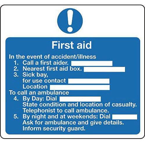 Sign First Aid 200 X 200 Vinyl