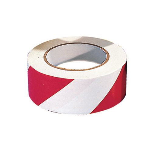 Tape  Warning 6 Rolls Of Red/ White Width 50mm