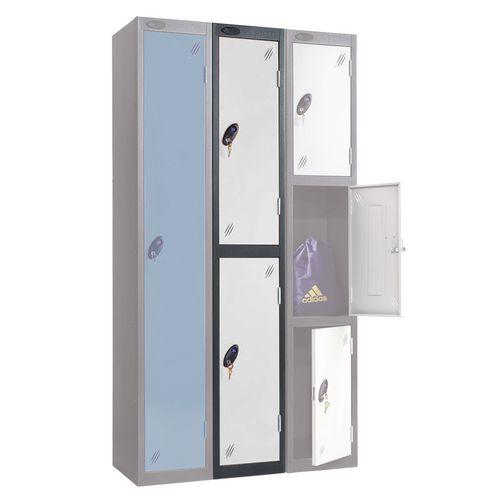 Black Body Locker 12x18 2 White Doors