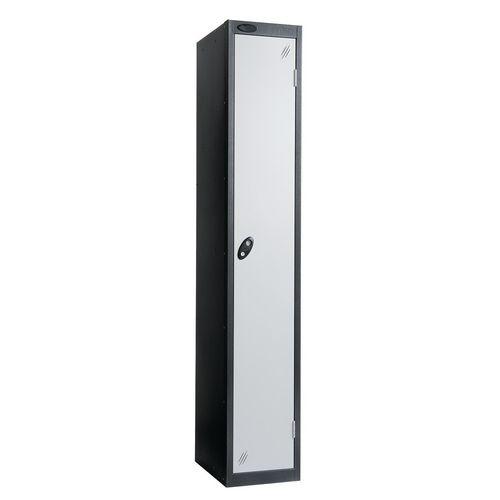 Black Body Lockers 12X18 Single White Door