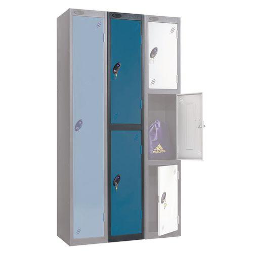 Black Body Locker 12x18 2 Blue Doors