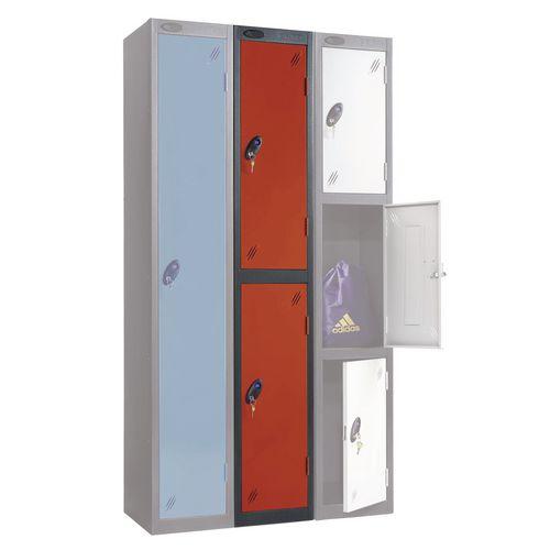 Black Body Locker 12x18 2 Red Doors