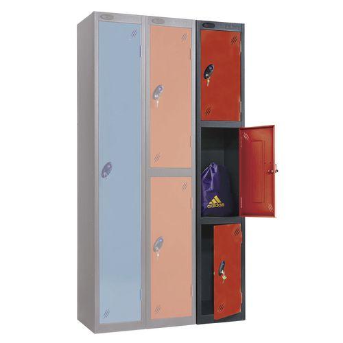 Black Body Locker 12x18 3 Red Doors