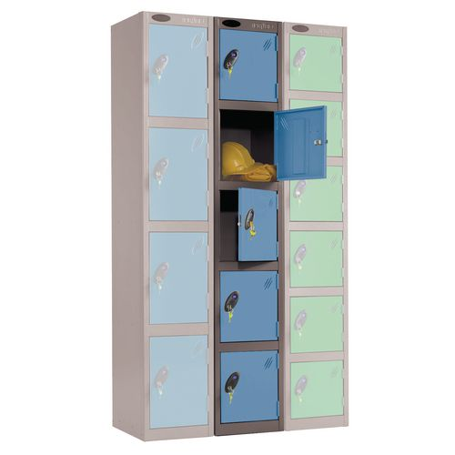 Black Body Locker 12X18 5 Blue Doors