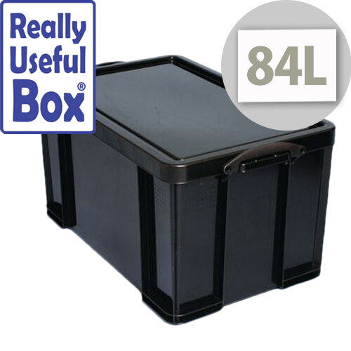 Really Useful Box 84L Black Polypropylene 100% Recycled Box