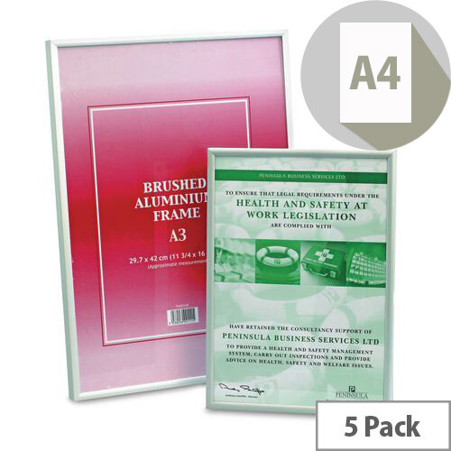 A4 Aluminium Frame Pack Of 5