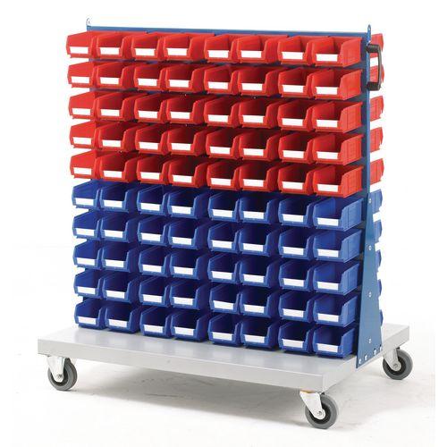 Double Sided Trolley C/W 80Xtc2 Red &80Xtc2 Blue