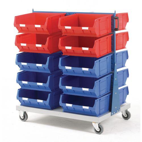 Double Sided Trolley C/W 8Xtc6 Red &12Xtc6 Blue