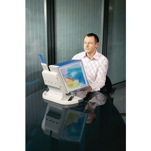 Tarifold Office Desk Stand Blue Pkts
